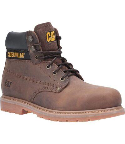 Caterpillar Mens Powerplant GYW Leather Safety Boot (Brown) - UTFS6912
