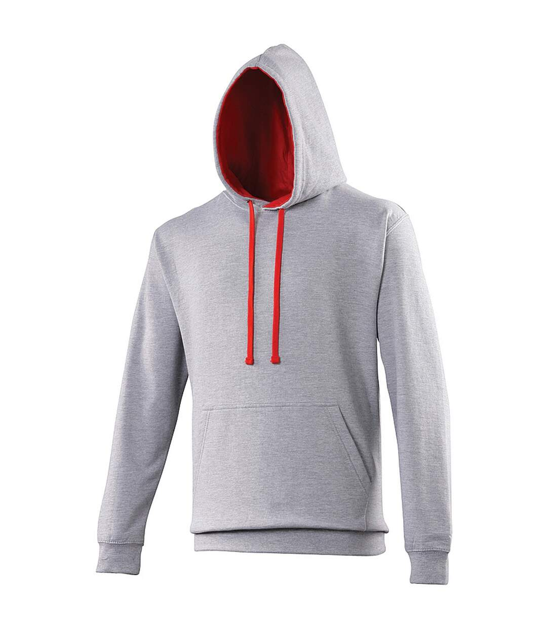 Awdis Varsity Hooded Sweatshirt / Hoodie (Jet Black/Orange Crush) - UTRW165