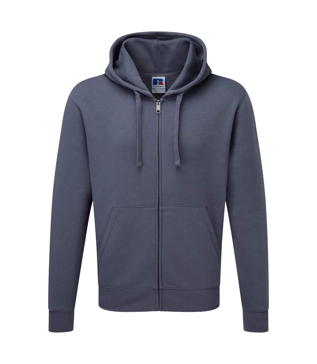 Russell Mens Authentic Full Zip Hooded Sweatshirt / Hoodie (Convoy Grey) - UTBC1499