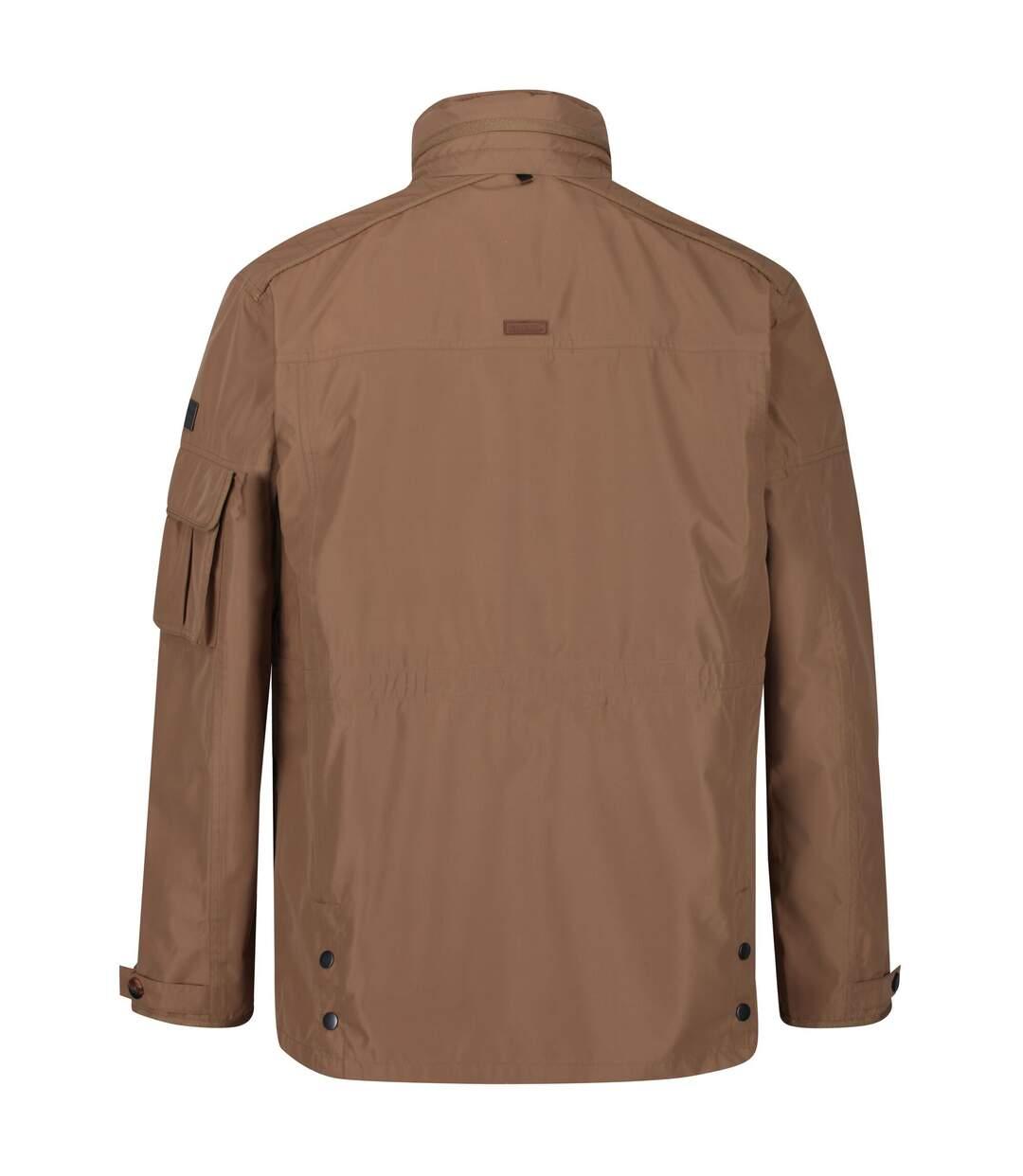 Regatta Mens Elmore Waterproof Cargo Jacket (Dark Camel) - UTRG4895