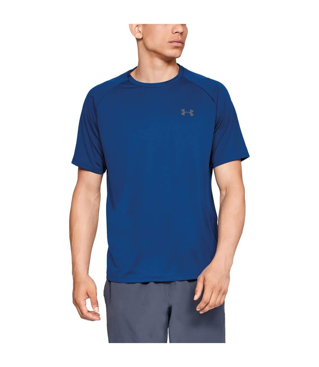Under Armour Mens Tech T-Shirt (Royal Blue/Graphite) - UTRW7749