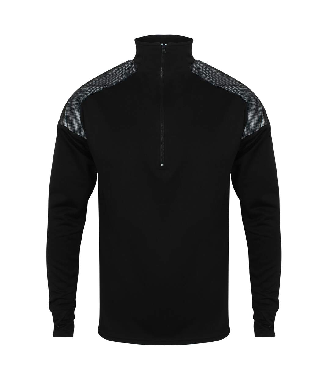 Tombo - Haut à motif réfléchissant et col zippé - Homme (Noir) - UTRW5469