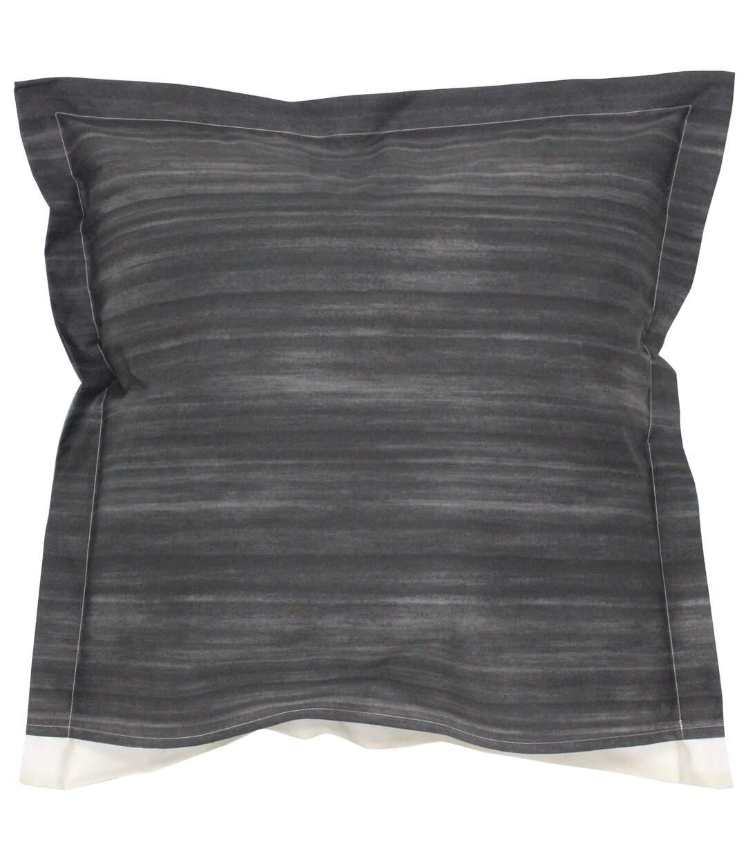 Parure de lit 200x200 cm Percale pur coton JAZZ GRIS 3 pièces