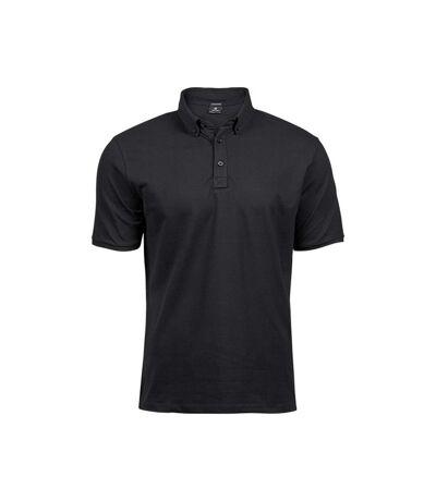 Tee Jays Mens Fashion Stretch Polo (Black) - UTBC4044