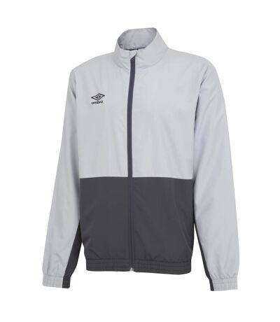 Umbro Mens Woven Training Jacket (High Rise Grey/Carbon Grey) - UTGD112