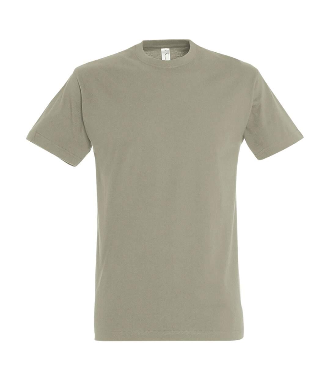 SOLS Mens Imperial Heavyweight Short Sleeve T-Shirt (Khaki) - UTPC290