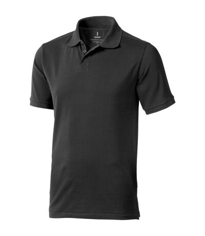 Elevate Mens Calgary Short Sleeve Polo (Pack of 2) (Anthracite) - UTPF2498