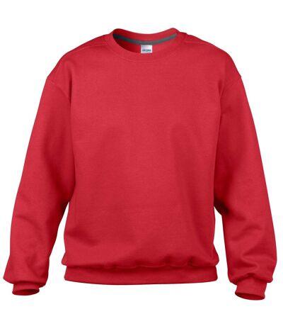 Gildan Mens Premium Cotton Crew Neck Sweatshirt (Red) - UTRW4503