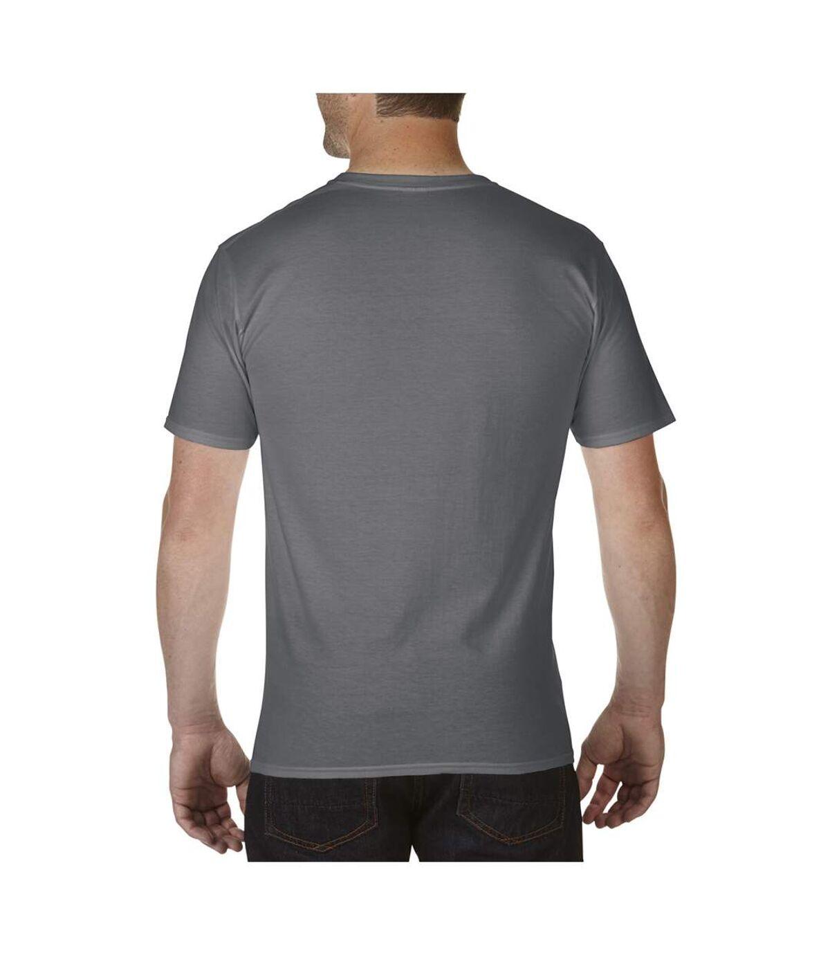 Gildan Mens Premium Cotton V Neck Short Sleeve T-Shirt (Charcoal) - UTBC3483