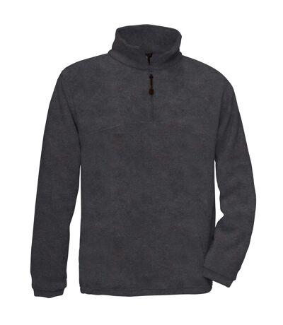B&C Mens Highlander+ 1/4 Zip Fleece Top (Black) - UTRW3031