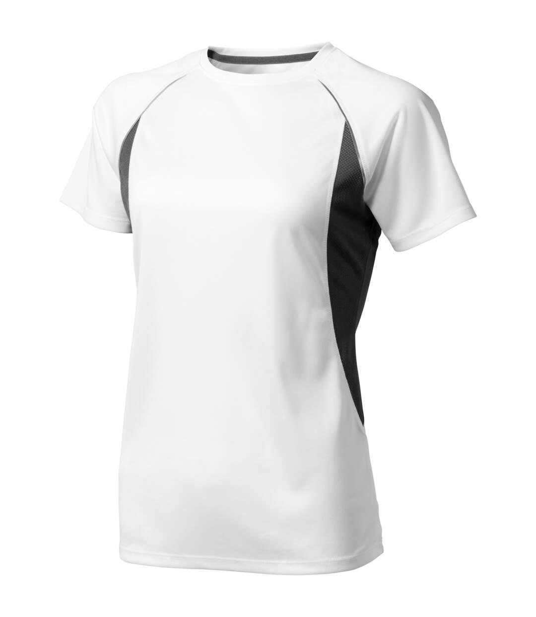 Elevate - T-Shirt Manches Courtes Quebec - Femme (Blanc/ Anthracite) - UTPF1883