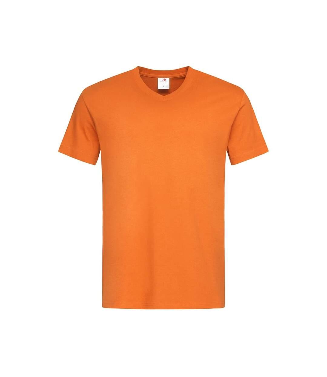 Stedman Mens Classic V Neck Tee (Orange) - UTAB276