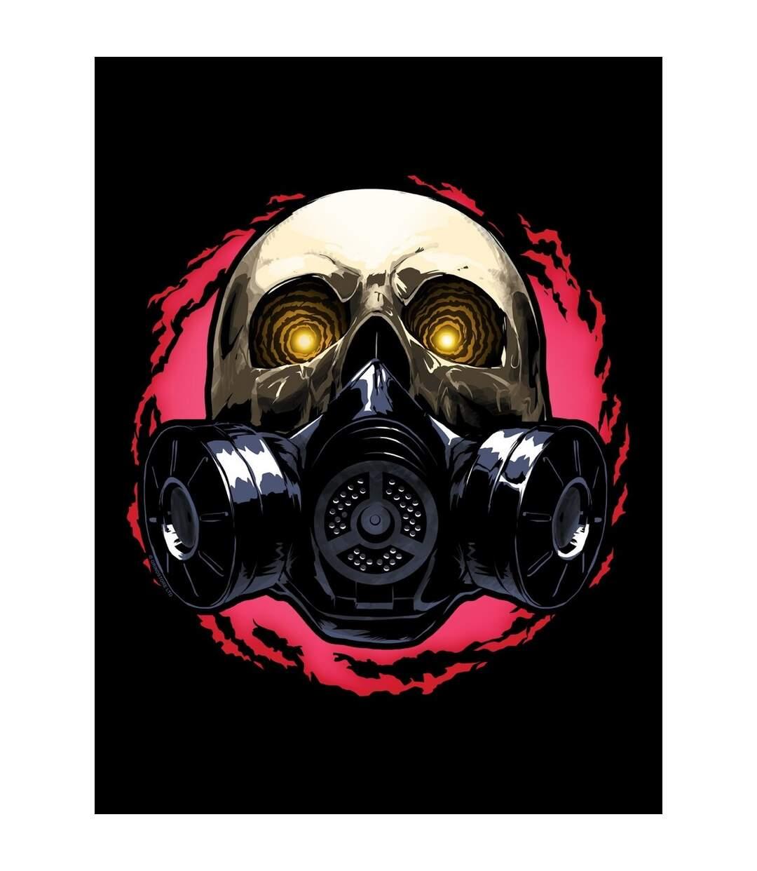 Grindstore Mens Gas Mask Skull Hoodie (Black) - UTGR4528
