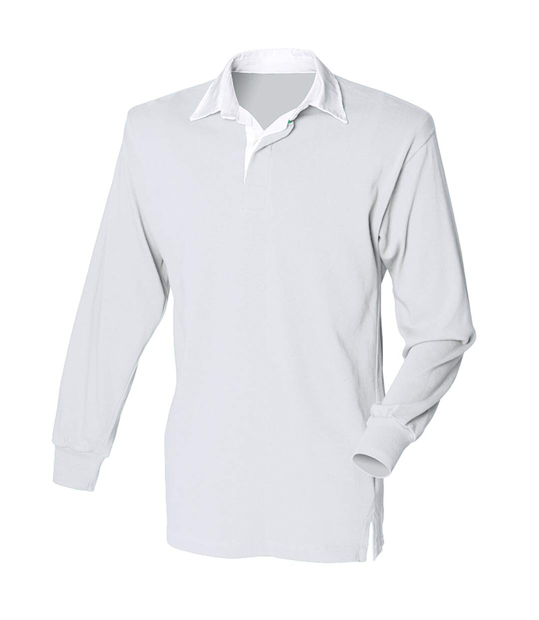 Front Row - Polo De Rugby À Manches Longues 100% Coton - Homme (Blanc/Blanc) - UTRW478