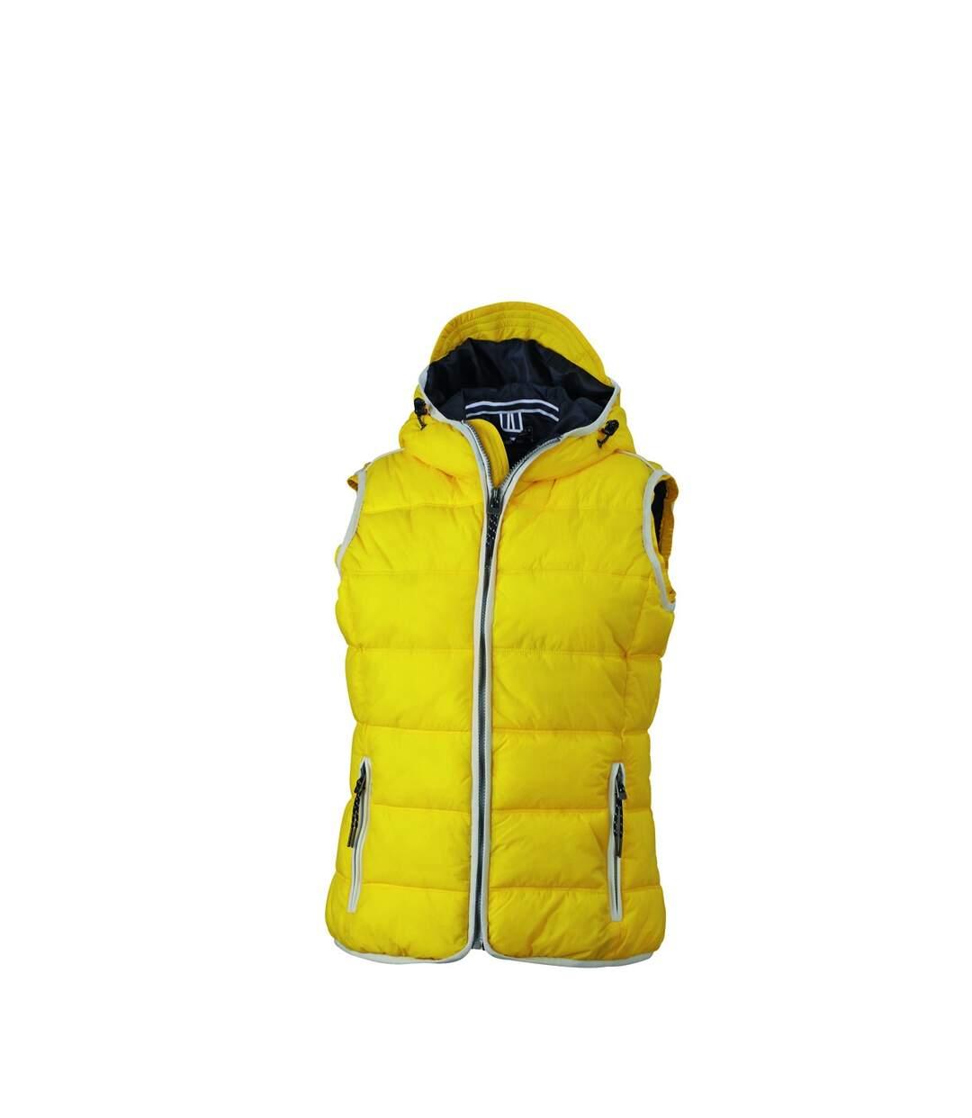 Doudoune sans manches pour femme - JN1075 - jaune soleil