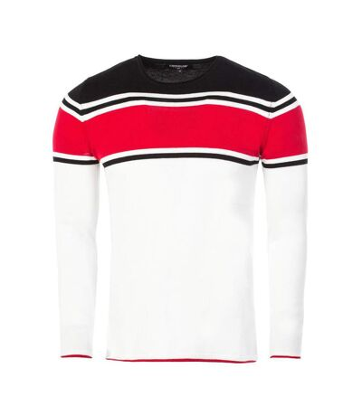 Pull tendance pour homme Pull CR7570 blanc