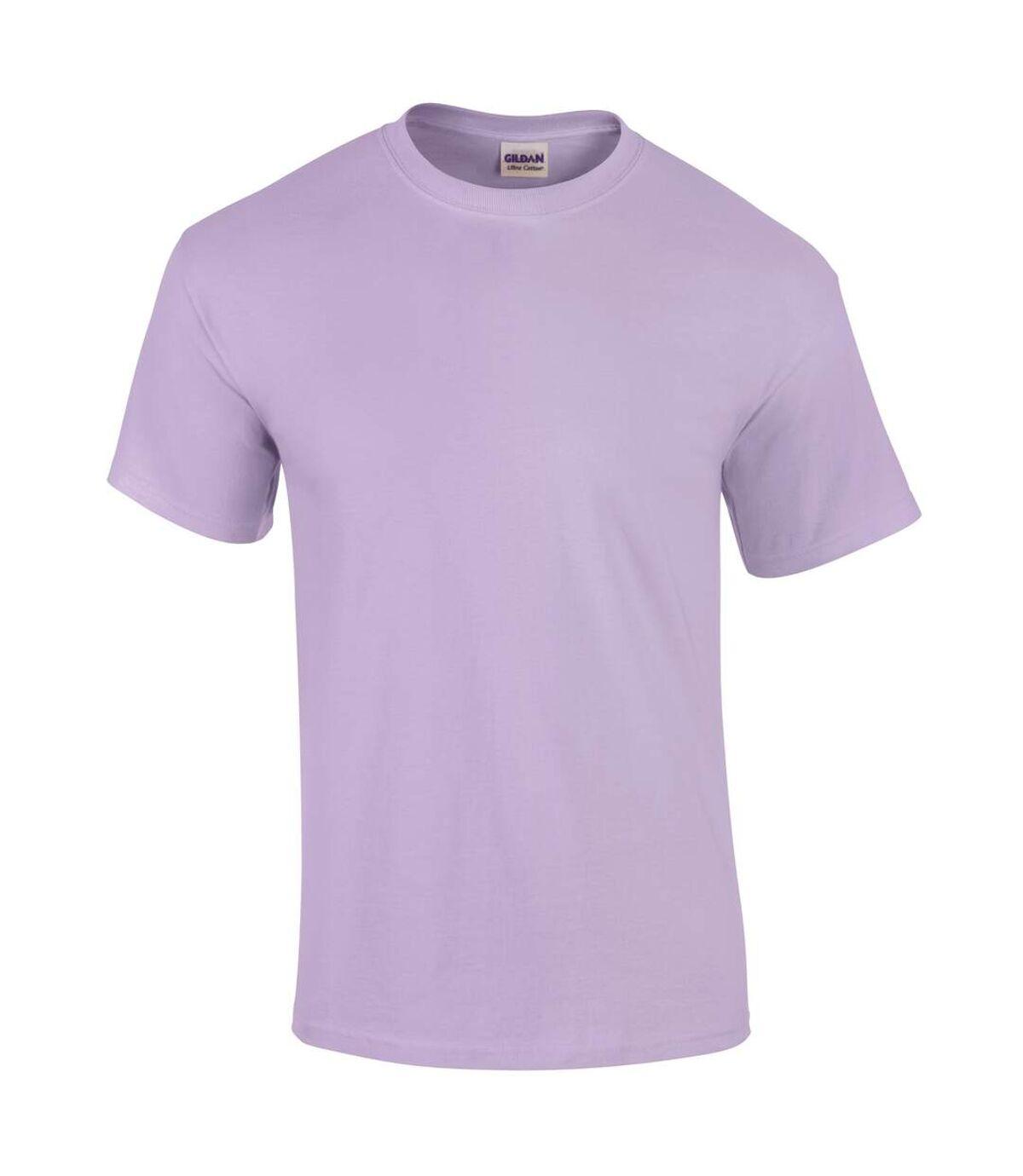 Gildan Mens Ultra Cotton Short Sleeve T-Shirt (Orchid) - UTBC475