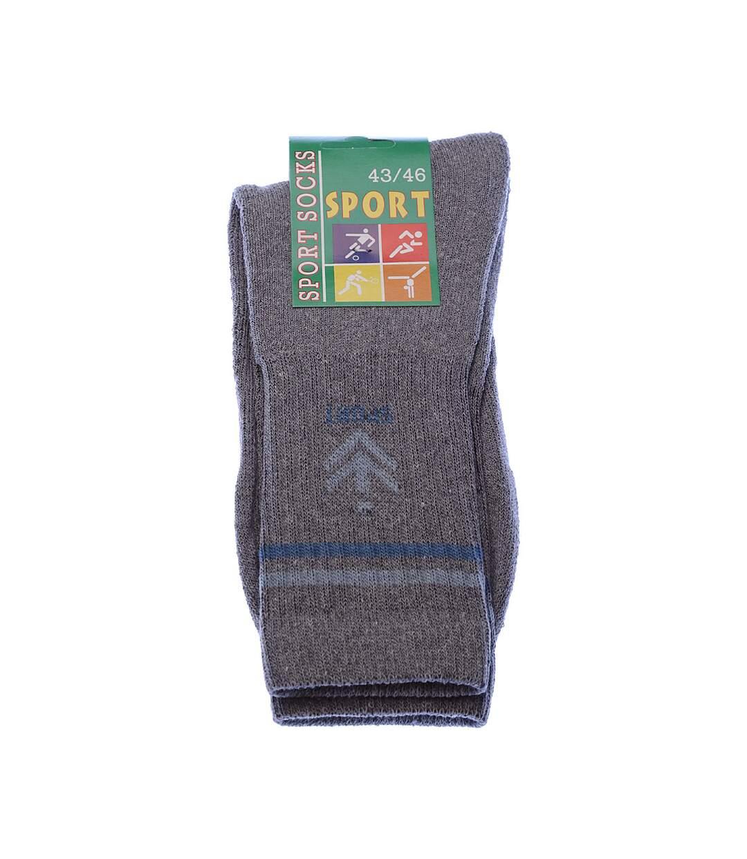 Dégagement Chaussette Mi-Hautes Lot de 5 Sans bouclette Epaisse Coton Gris Sport socks dsf.d455nksdKLFHG