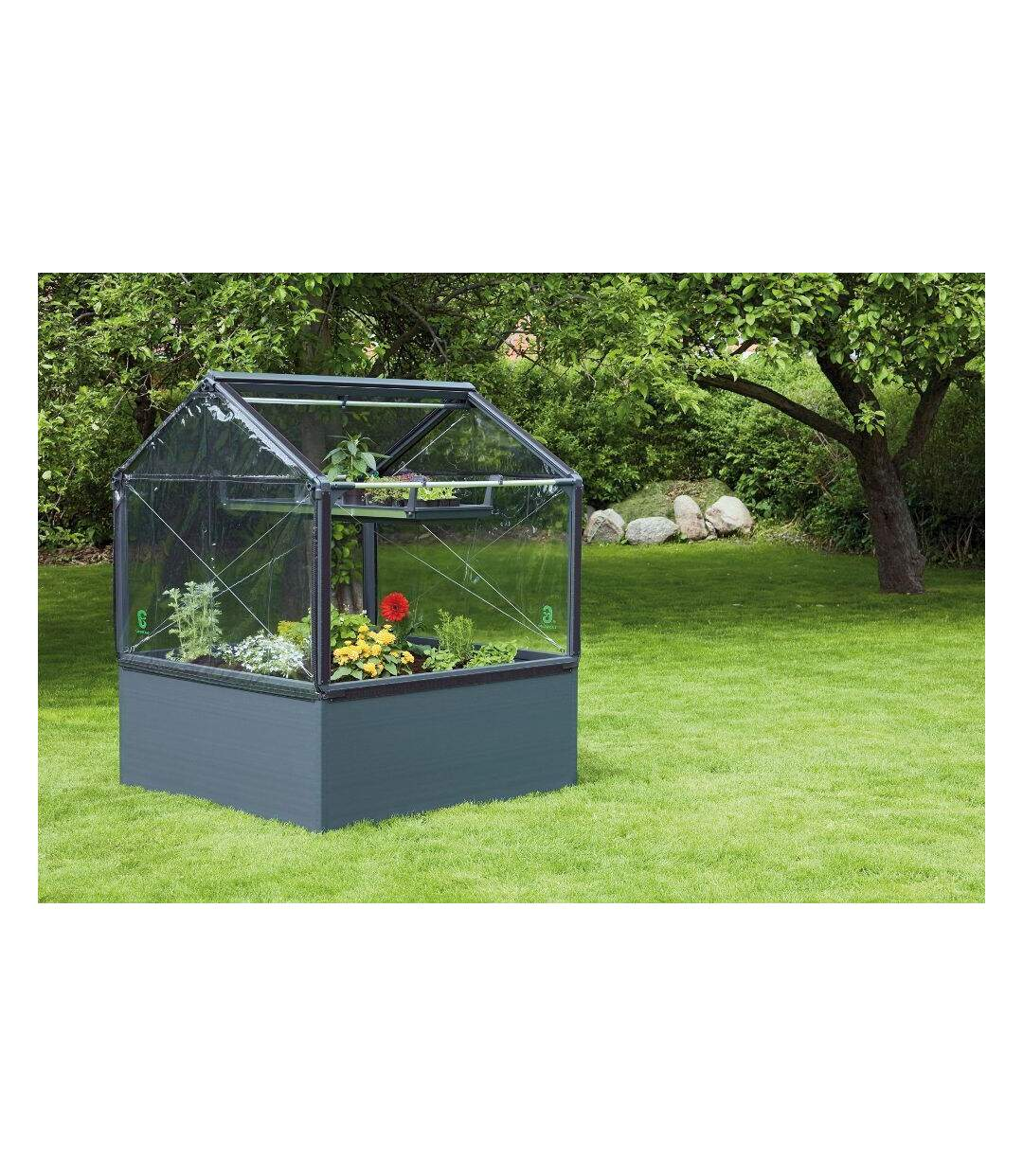Potager de jardin surélevé de 50cm avec serre 1 module