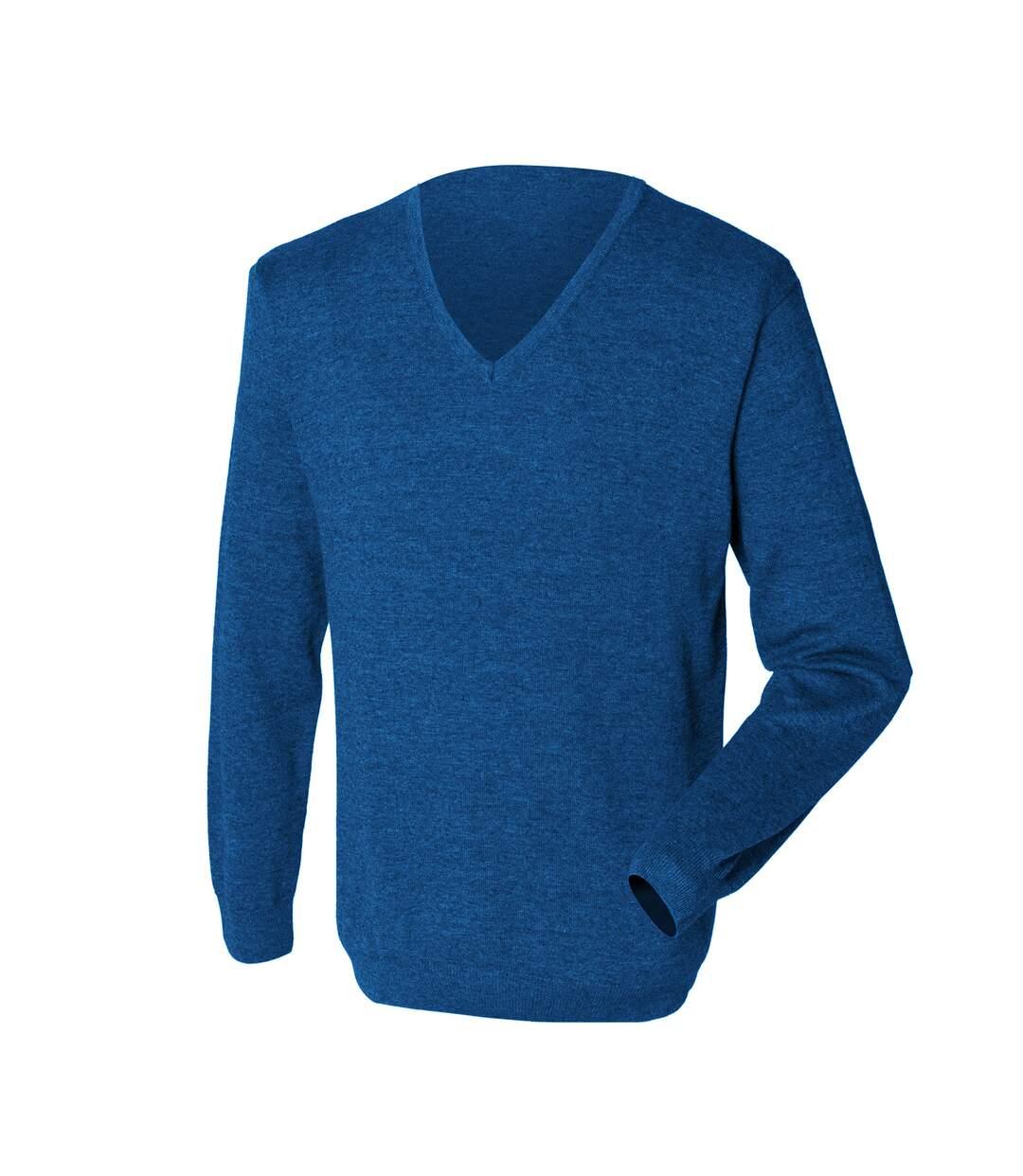 Henbury - Pullover avec col en V - Homme (Bleu roi) - UTRW659