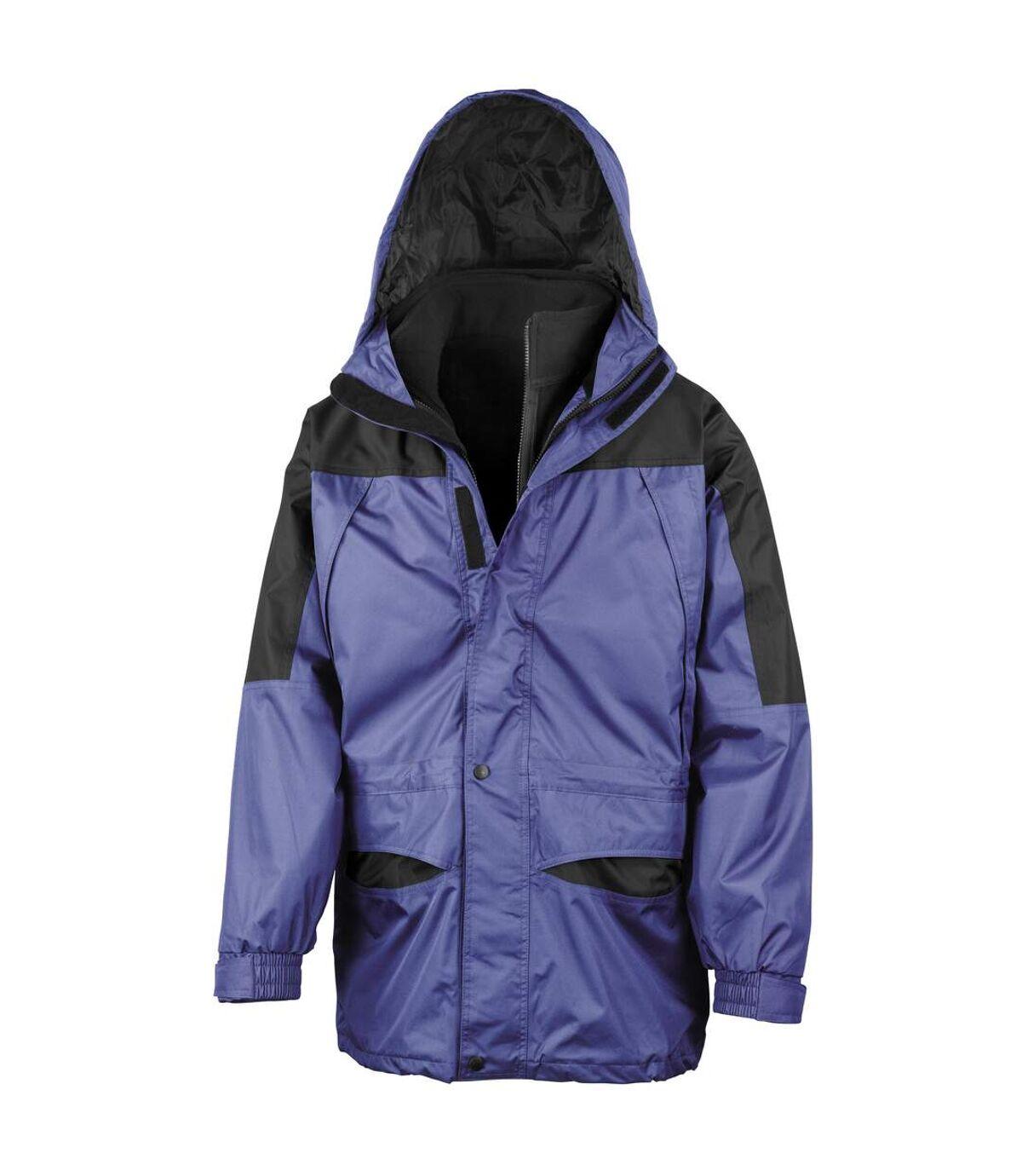 Result Mens Alaska 3-in-1 StormDri Waterproof Windproof Jacket (Royal/Black) - UTBC941