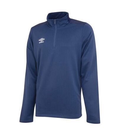 Umbro Mens Half Zip Sweatshirt (Navy/Dark Navy) - UTGD107