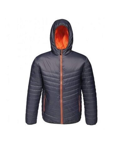 Regatta Standout Mens Acadia II Down-Touch Padded Jacket (Oxford Blue/Neon Spring Green) - UTPC3321