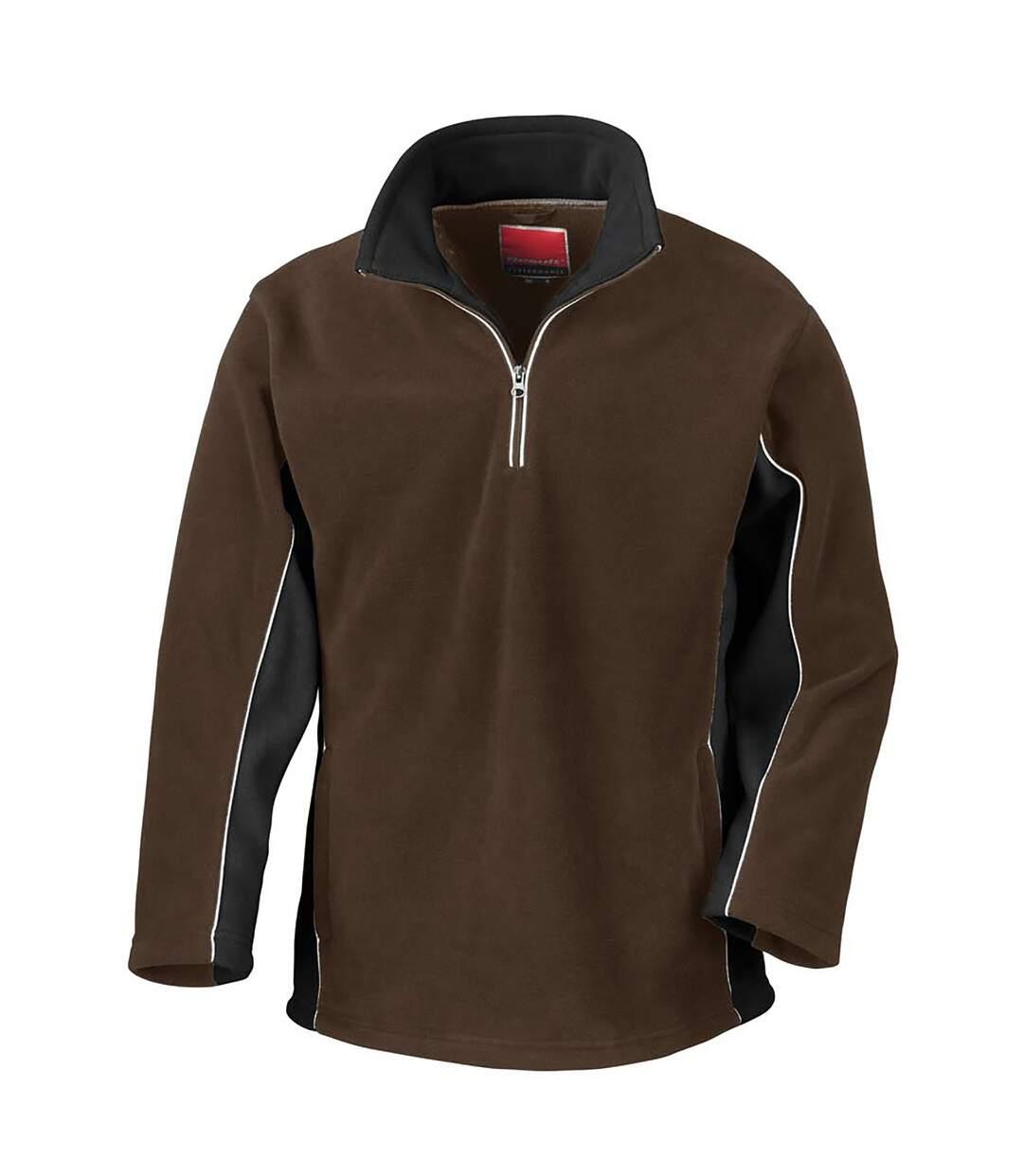 Result Mens Tech3 Sport Anti Pilling Windproof Breathable Fleece (Coffee/Black) - UTBC935