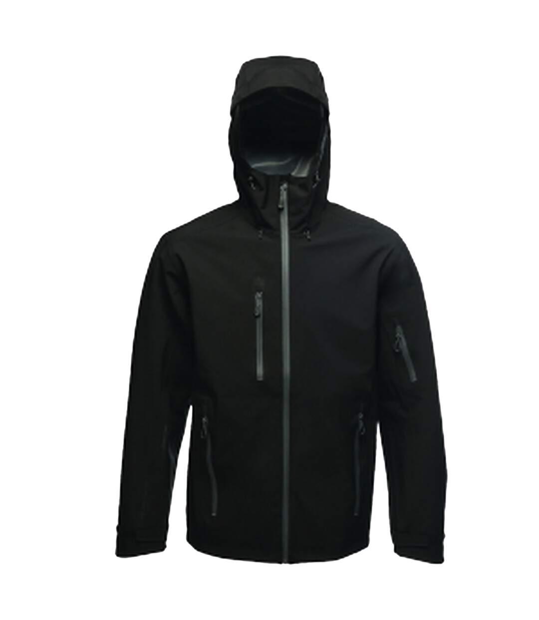 Regatta Mens Triode 3 Layer Waterproof Shell Jacket (Black) - UTRG3544