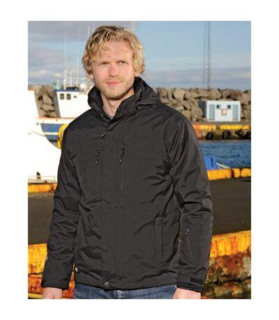 Stormtech Mens Hooded Beaufort 3-in-1 System Jacket (Waterproof & Breathable) (Black) - UTBC3077