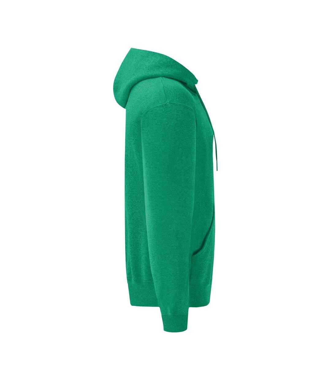 Fruit Of The Loom Mens Hooded Sweatshirt / Hoodie (Heather Green) - UTBC366
