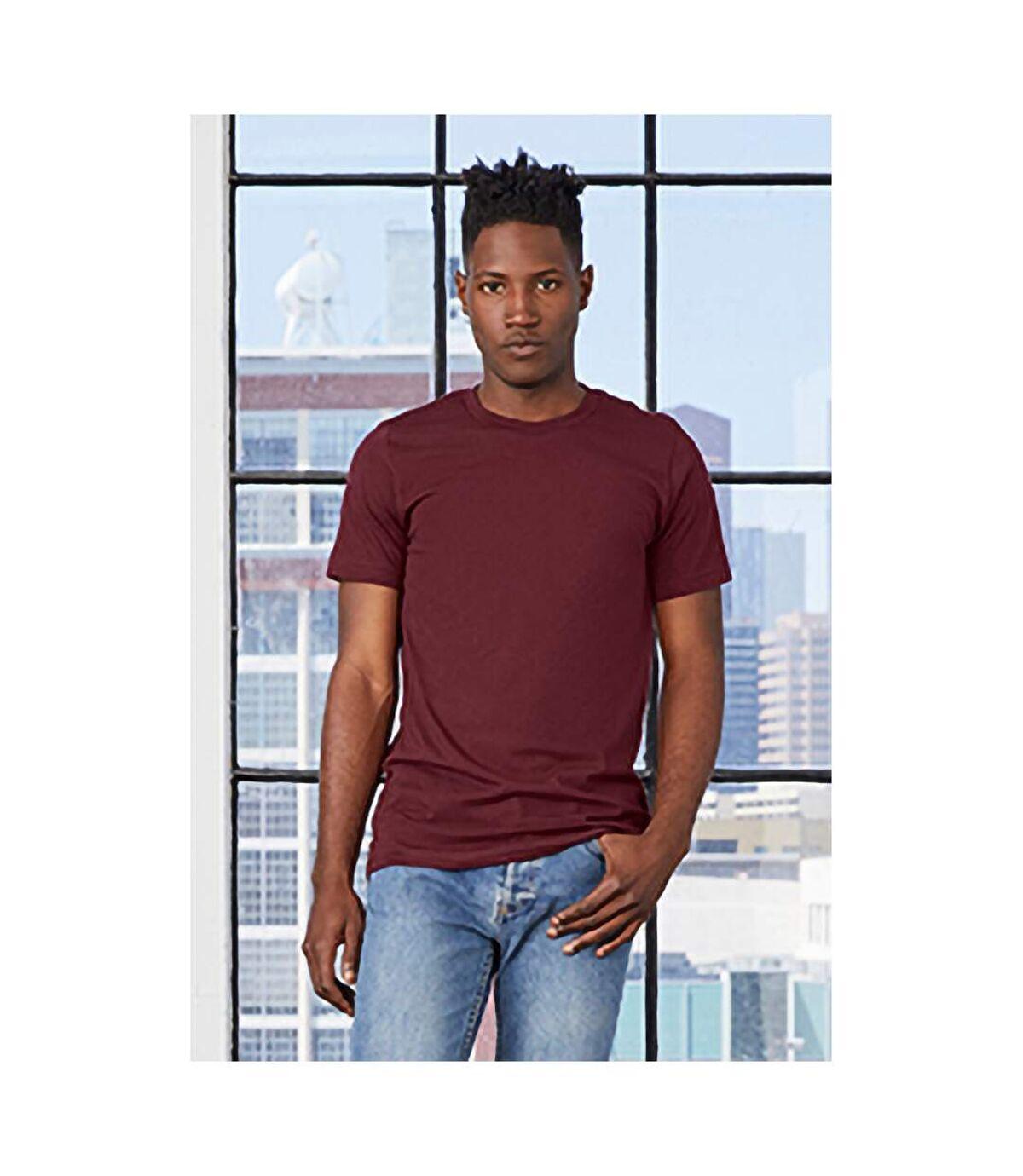 Canvas Unisex Jersey Crew Neck T-Shirt / Mens Short Sleeve T-Shirt (Heather Maroon) - UTBC163