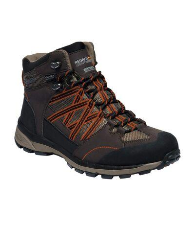 Regatta - Chaussures montantes de randonnée SAMARIS - Homme (Marron/orange) - UTRG3275