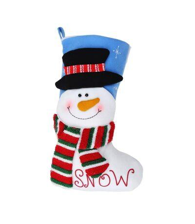 Christmas Shop - Chaussette de Noël (Bonhomme de neige) (Taille unique) - UTRW3412