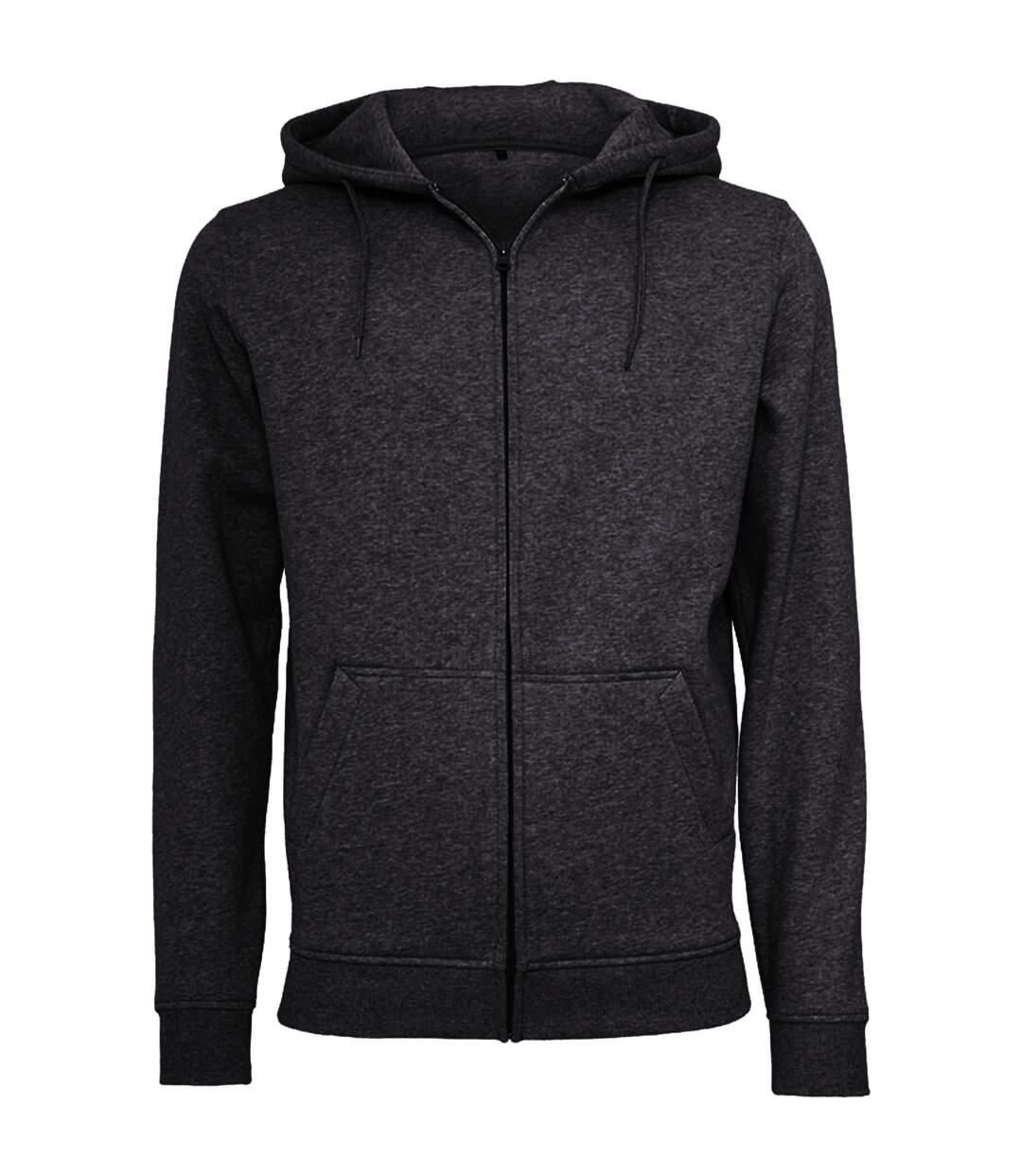 Build Your Brand Mens Heavy Zip Up Hoodie (Olive) - UTRW5680