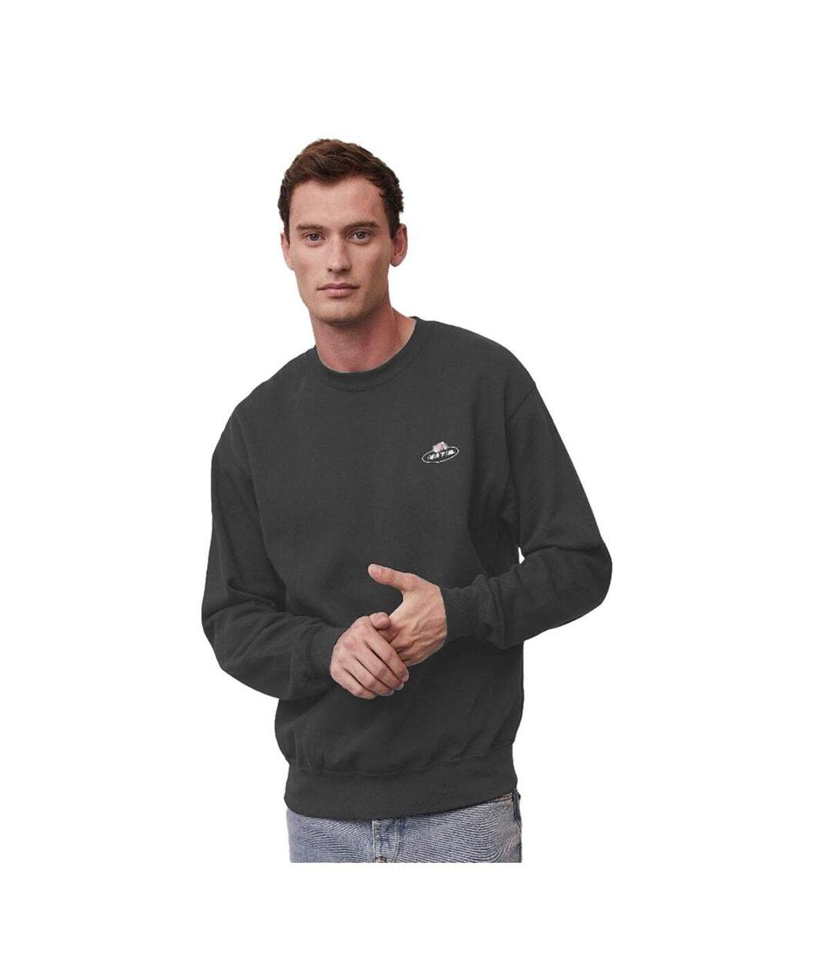 Fruit of the Loom Mens Small Logo Vintage Sweatshirt (Deep Navy) - UTPC4349