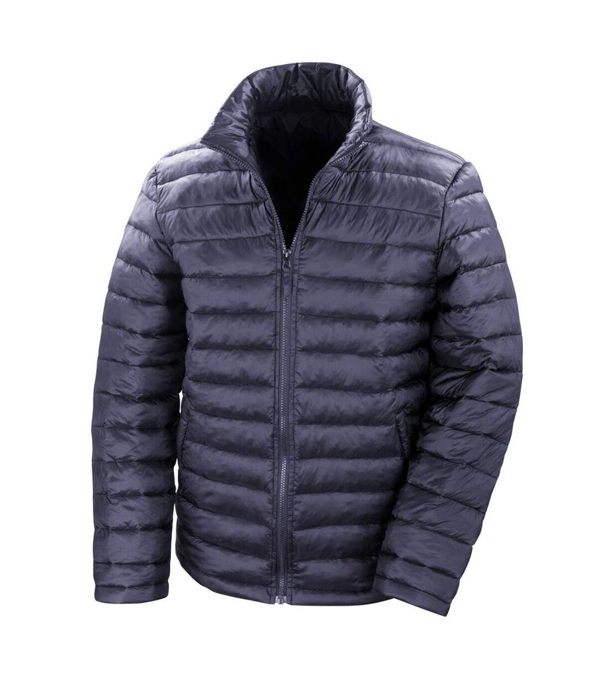 Result Mens Ice Bird Padded Winter Jacket (Water Repellent & Windproof) (Navy Blue) - UTBC2048
