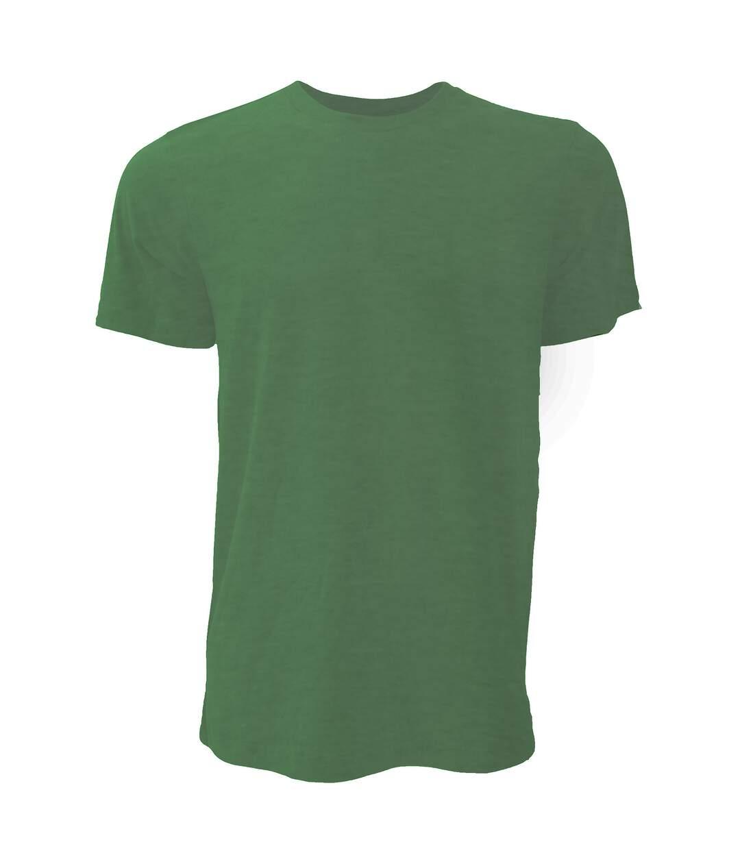 Canvas Unisex Jersey Crew Neck T-Shirt / Mens Short Sleeve T-Shirt (Heather Forest) - UTBC163