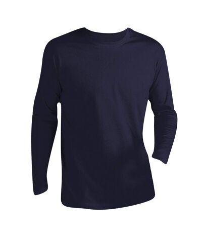 SOLS Mens Monarch Long Sleeve T-Shirt (Navy) - UTPC313