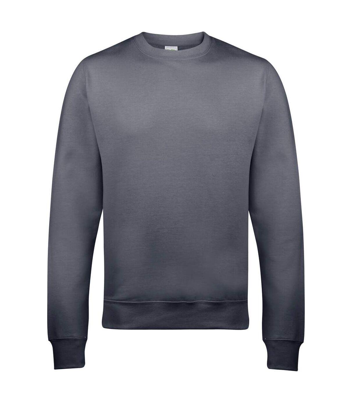 AWDis Just Hoods AWDis Unisex Crew Neck Plain Sweatshirt (280 GSM) (Baby Pink) - UTRW2014