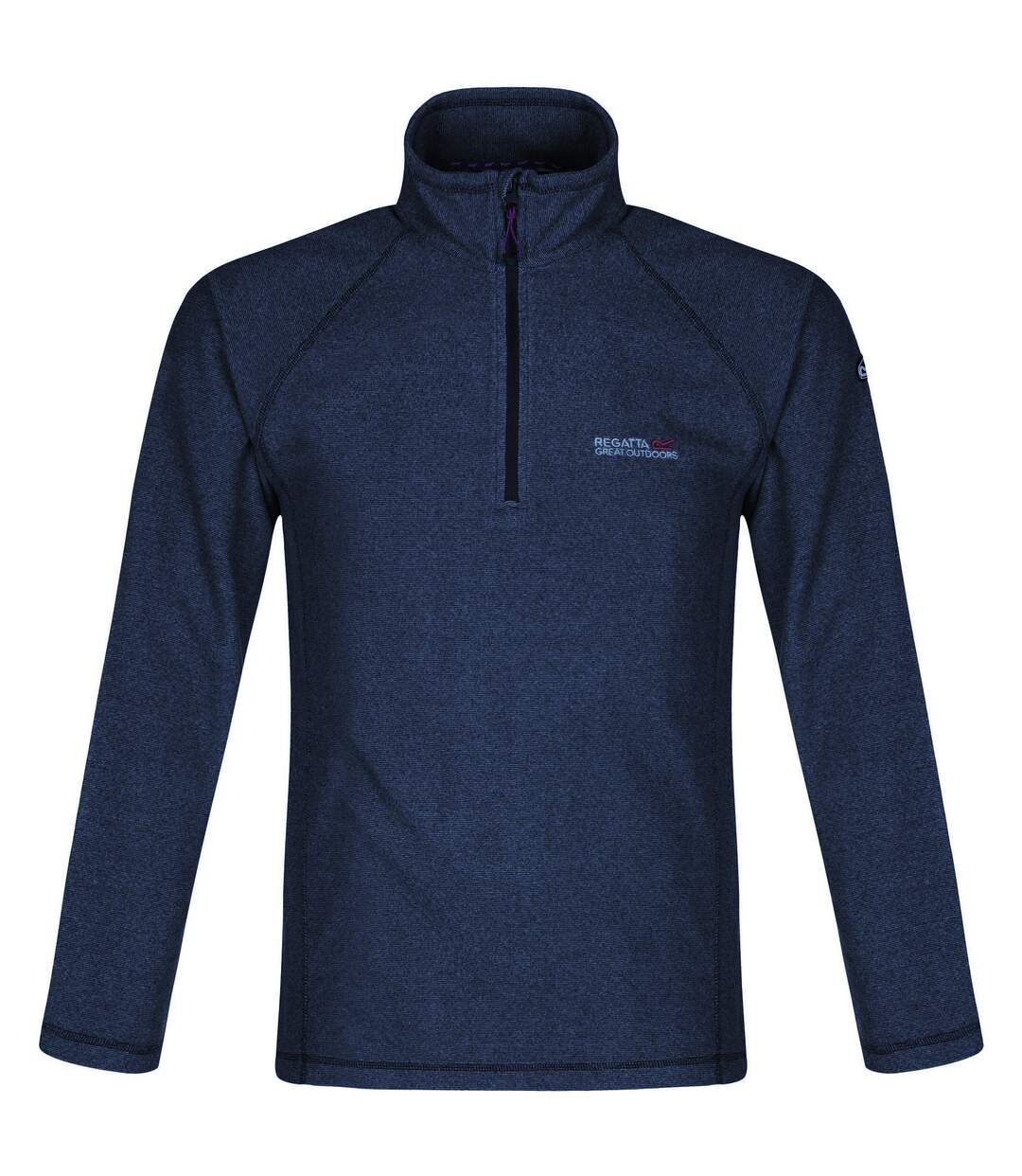 Regatta Great Outdoors Mens Montes Half Zip Fleece Jacket (Navy) - UTRG1898