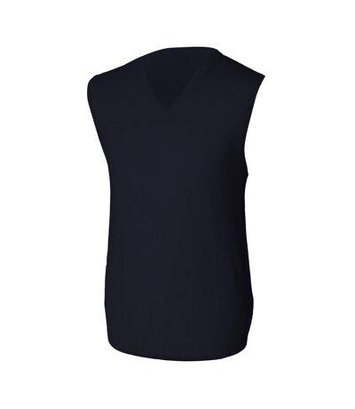 Henbury Mens Sleeveless Lambswool Woolmark® V-Neck Jumper / Sweatshirt (Navy) - UTRW666