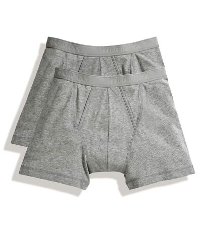 Fruit Of The Loom Mens Classic Boxer Shorts (Pack Of 2) (Light Grey Marl) - UTRW3156