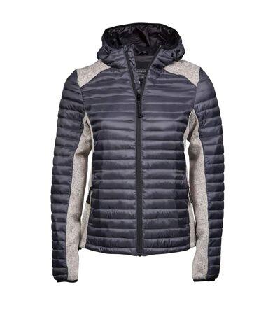 Doudoune à capuche anorak femme - 9611 - gris