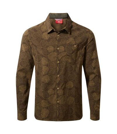 Craghoppers Mens NosiLife Lester Long Sleeved Shirt (Woodland Green Print) - UTCG1309