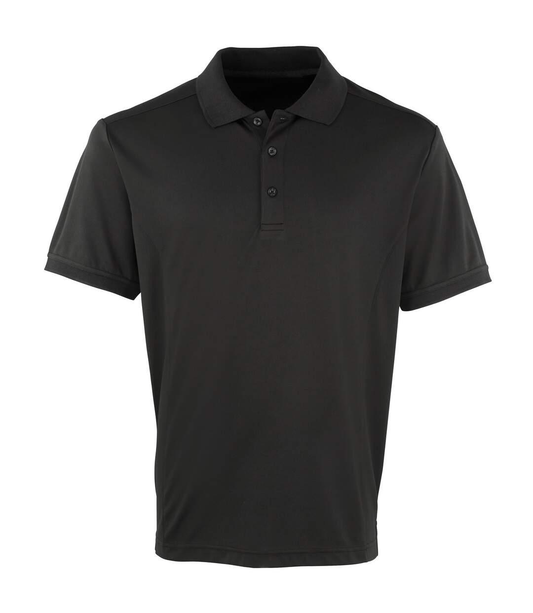 Premier Mens Coolchecker Pique Short Sleeve Polo T-Shirt (Neon Yellow) - UTRW4401