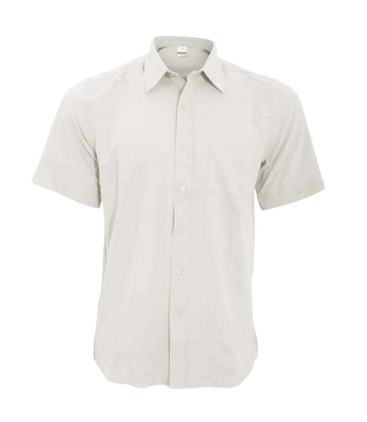 Henbury Mens Wicking Short Sleeve Work Shirt (White) - UTRW2698