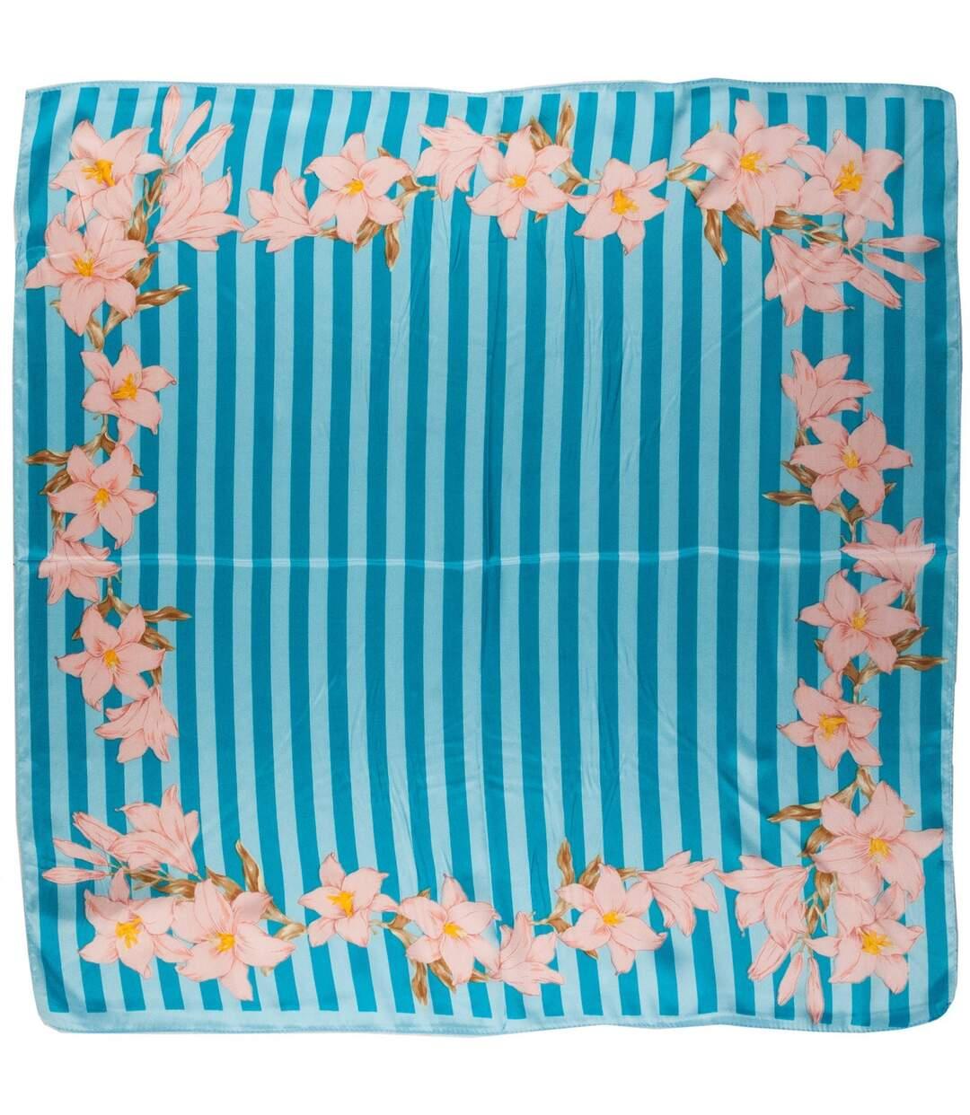 Dégagement Foulard carré Fleurs de vanille dsf.d455nksdKLFHG