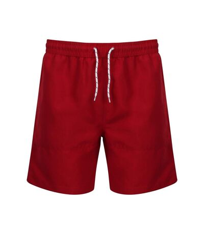Front Row Mens Board Shorts (Vintage Red/Vintage Red) - UTPC3154