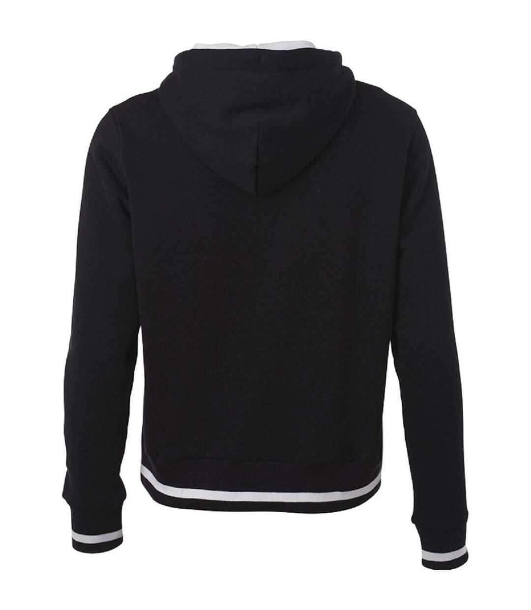 Dégagement Sweat shirt à capuche femme JN777 noir dsf.d455nksdKLFHG